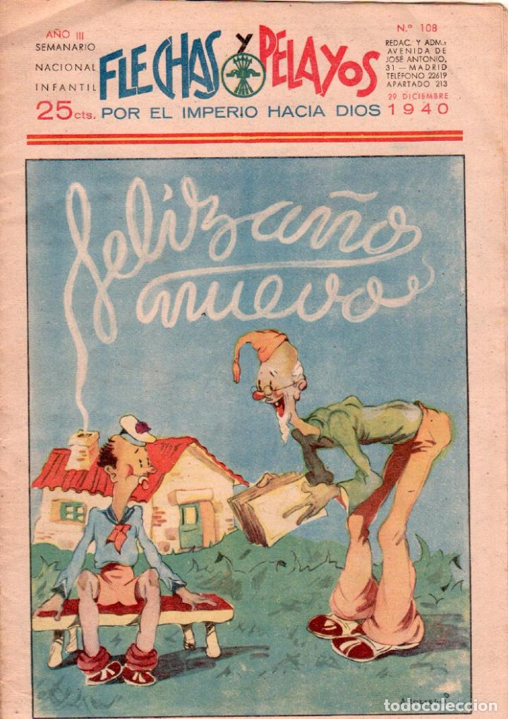 FLECHAS Y PELAYOS Nº 108 - DICIEMBRE 1940 - MUY BIEN CONSERVADO (Tebeos y Comics - Consuelo Gil)