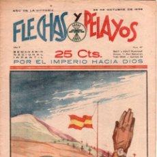 Tebeos: FLECHAS Y PELAYOS ORIGINAL Nº 47- OCTUBRE 1939 - MUY BUENA CONSERVACION. Lote 89612964