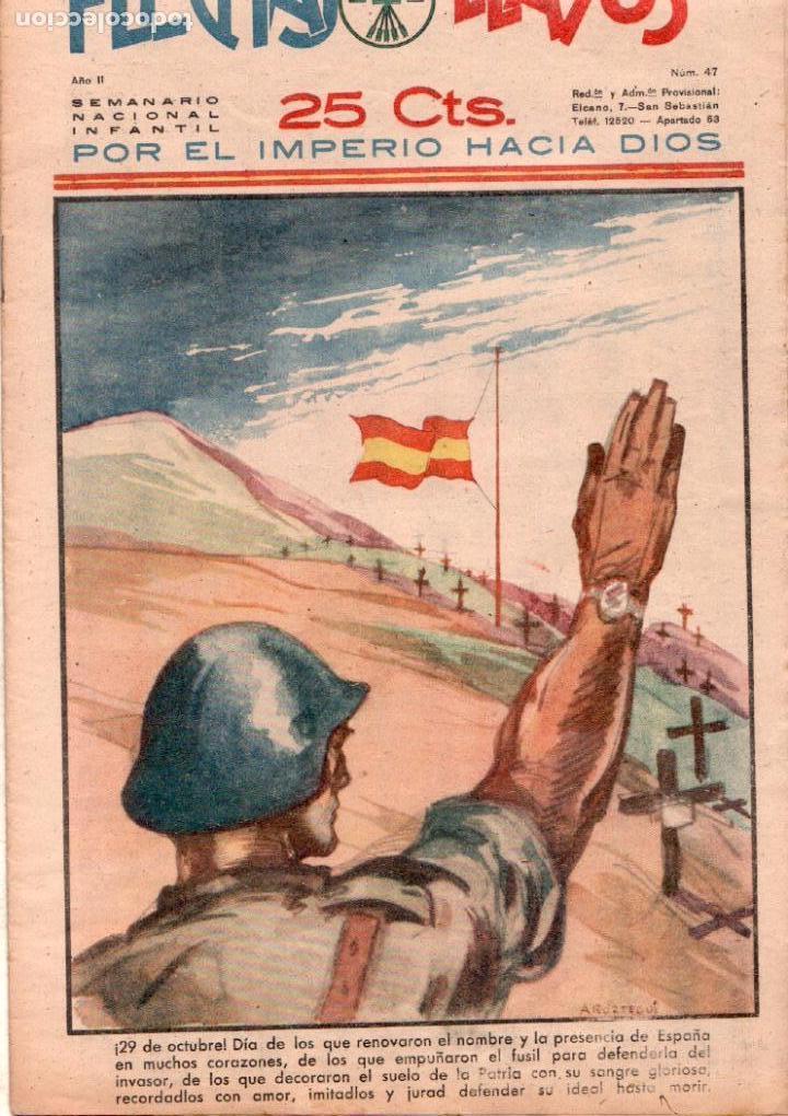 Tebeos: FLECHAS Y PELAYOS ORIGINAL Nº 47- OCTUBRE 1939 - MUY BUENA CONSERVACION - Foto 2 - 89612964