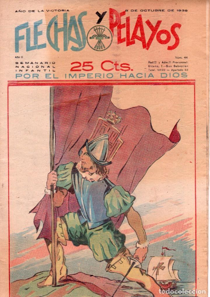 FLECHAS Y PELAYOS ORIGINAL Nº 44 - OCTUBRE 1939 (Tebeos y Comics - Consuelo Gil)