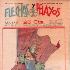 Tebeos: FLECHAS Y PELAYOS ORIGINAL Nº 44 - OCTUBRE 1939. Lote 89613336