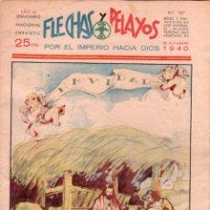 Tebeos: FLECHAS Y PELAYOS ORIGINAL Nº 107 - MUY BIEN CONSERVADO - DICIEMBRE 1940. Lote 89613432