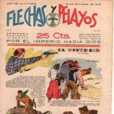 Tebeos: FLECHAS Y PELAYOS ORIGINAL Nº 45 - OCTUBRE 1939 - MUY BUENA CONSERVACION. Lote 89613564