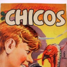 Tebeos: L-4561- ALMANAQUE CHICOS. AÑO 1949. EDITADA EN SAN SEBASTIAN. DIRECCIÓN CONSUELO GIL. ORIGINAL.. Lote 89703356
