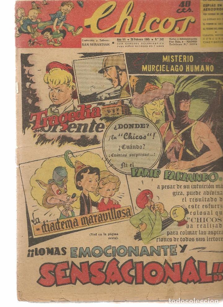 CHICOS. Nº 342. CONSUELO GIL. 1945. (RF.MA)C/6 (Tebeos y Comics - Consuelo Gil)