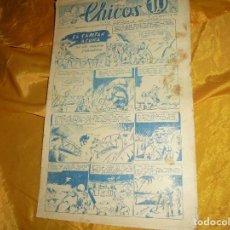 Tebeos: CHICOS Nº 30 : EL CAPITAN ACUÑA. ANDANZAS DE TOMASITA. ORIGINAL. SEPTIEMBRE 1938. CONSUELO GIL. Lote 101927459