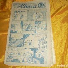 Tebeos: CHICOS Nº 35 : EL MENSAJERO DE LA SELVA. 13 NOVIEMBRE 1938. CONSUELO GIL. 10 CTS. Lote 101935863