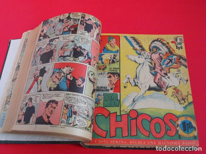 TOMO ENCUADERNADO CON 56 SEMANARIOS CHICOS, DEL 1 AL 56, EDICIONES CID, CONSUELO GIL 1954-1955 (Tebeos y Comics - Consuelo Gil)