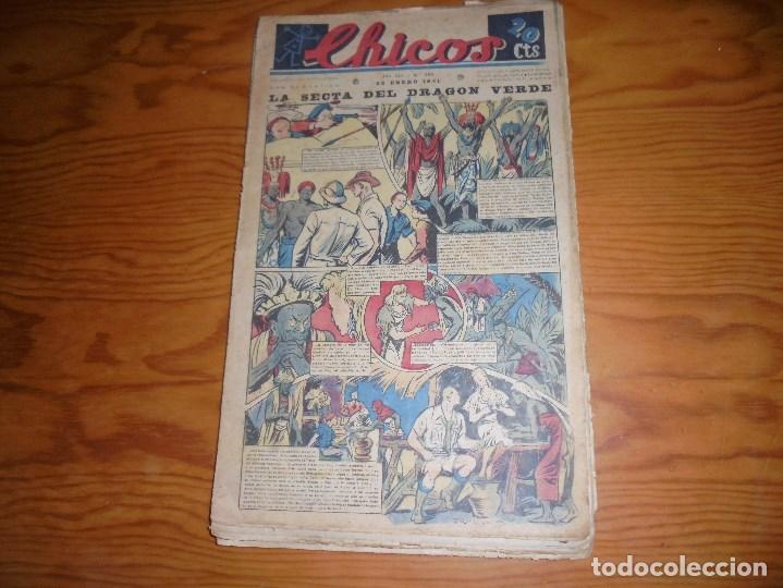 CHICOS Nº 151 : LA SECTA DEL DRAGON VERDE. 22 ENERO 1941. CONSUELO GIL. 20 CTS. (Tebeos y Comics - Consuelo Gil)