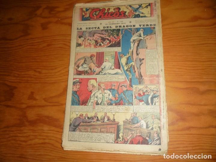 CHICOS Nº 155 : LA SECTA DEL DRAGON VERDE. 19 FEBREO 1941. CONSUELO GIL. 20 CTS. (Tebeos y Comics - Consuelo Gil)