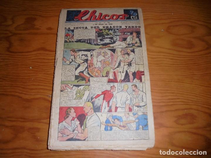 CHICOS Nº 122. 3 DE JULIO 1940. LA SECTA DEL DRAGON VERDE. CONSUELO GIL. 20 CTS (Tebeos y Comics - Consuelo Gil)