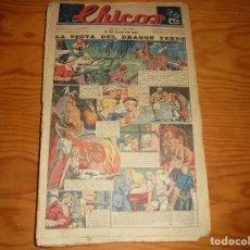 Tebeos: CHICOS Nº 126. 31 DE JULIO 1940. LA SECTA DEL DRAGON VERDE. CONSUELO GIL. 20 CTS. Lote 113562035