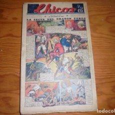 Giornalini: CHICOS Nº 137. 16 OCTUBRE 1940. LA SECTA DEL DRAGON VERDE. CONSUELO GIL. 20 CTS. Lote 113562575