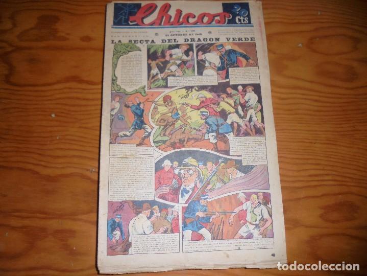 CHICOS Nº 138. 23 OCTUBRE 1940. LA SECTA DEL DRAGON VERDE. CONSUELO GIL. 20 CTS (Tebeos y Comics - Consuelo Gil)