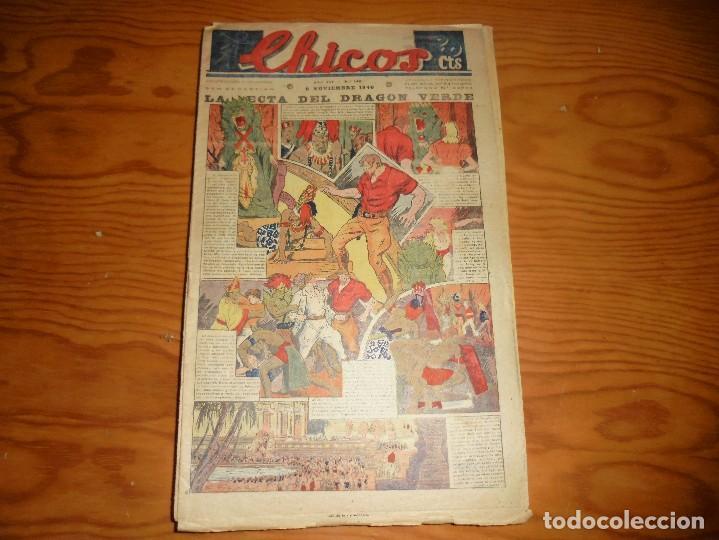 CHICOS Nº 140. 6 NOVIEMBRE 1940. LA SECTA DEL DRAGON VERDE. CONSUELO GIL. 20 CTS (Tebeos y Comics - Consuelo Gil)