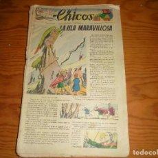 Tebeos: CHICOS Nº 46. 18 ENERO 1939. LA ISLA MARAVILLOSA. CONSUELO GIL. 15 CTS. Lote 114105563