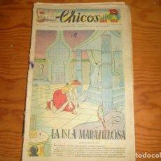 Tebeos: CHICOS Nº 51. 22 FEBRERO 1939. LA ISLA MARAVILLOSA. CONSUELO GIL. 15 CTS. Lote 114105743