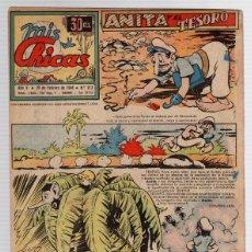 Tebeos: REVISTA MIS CHICAS. Nº 213. CON RECORTABLE. 25 DE FEBRERO DE 1946. Lote 114977676