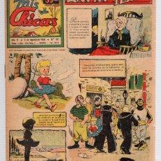 Tebeos: REVISTA MIS CHICAS. Nº 197. CON RECORTABLE GABRIEL. 5 DE AGOSTO DE 1945. Lote 114979312