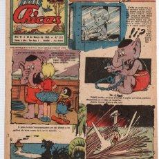 Tebeos: REVISTA MIS CHICAS. Nº 217. CON RECORTABLE. 21 DE MARZO DE 1946. Lote 114980196
