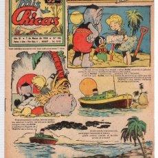 Tebeos: REVISTA MIS CHICAS. Nº 215. CON RECORTABLE. 7 DE MARZO DE 1946. Lote 114982539