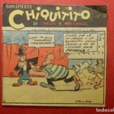 Tebeos: TEBEO - SUPLEMENTO CHIQUITITO - CON CENSURA ECLESIASTICA - Nº 62 - . Lote 120035203