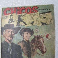 Tebeos: CHICOS , NUMERO 9 , DOS HOMBRES BUENOS , EDITORIAL CID 1954. Lote 124507115