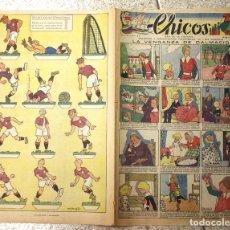 Livros de Banda Desenhada: CHICOS. Nº 67. 14 DE JUNIO DE 1939. ORIGINAL. CON RECORTABLE DE SELECCION INTERNACIONAL EN TRASERA. Lote 137515784