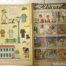 Livros de Banda Desenhada: CHICOS. Nº 68. 21 DE JUNIO DE 1939. ORIGINAL. CON RECORTABLE DE PEPITO HOLMES EN TRASERA. Lote 137515932