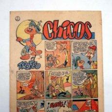 Tebeos: CHICOS AÑO XIII SEGUNDA ÉPOCA 58. (VVAA) CHICOS /GILSA, 1952. Lote 139513624