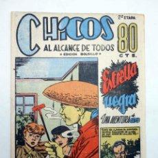 Tebeos: CHICOS AL ALCANCE DE TODOS. 2ª ETAPA, EDICIÓN BOLSILLO 11. ESTRELLA NEGRA (VVAA) CHICOS /GILSA, 1950. Lote 139513632
