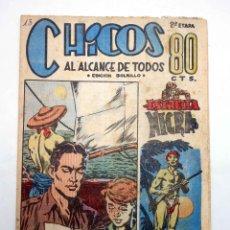 Tebeos: CHICOS AL ALCANCE DE TODOS. 2ª ETAPA, EDICIÓN BOLSILLO 13. ESTRELLA NEGRA (VVAA) CHICOS /GILSA, 1950. Lote 139513636