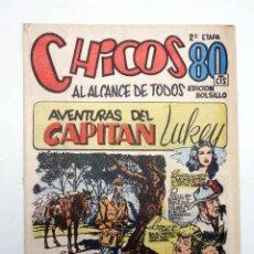 Tebeos: CHICOS AL ALCANCE DE TODOS. 2ª ETAPA, EDICIÓN BOLSILLO 14. CAPITÁN LUKEY (VVAA) CHICOS /GILSA, 1950. Lote 139513640