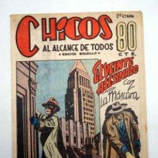 Tebeos: CHICOS AL ALCANCE DE TODOS. 2ª ETAPA, EDICIÓN BOLSILLO 18. LA MÁSCARA (VVAA) CHICOS /GILSA, 1950. Lote 139513644