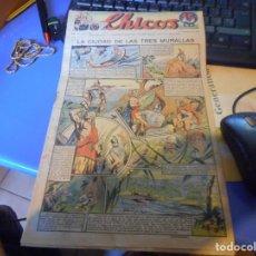 Tebeos: TEBEO COMPLETO CHICOS LA CIUDAD DE LAS TRES MURALLAS FREIXAS 1940 NUMERO 100. Lote 145358134