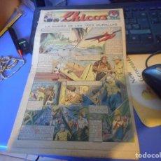 Tebeos: TEBEO COMPLETO CHICOS LA CIUDAD DE LAS TRES MURALLAS FREIXAS 1940 NUMERO 99. Lote 145358422