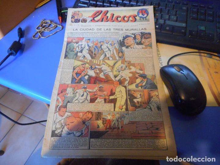 TEBEO COMPLETO CHICOS LA CIUDAD DE LAS TRES MURALLAS FREIXAS 1940 NUMERO 98 (Tebeos y Comics - Consuelo Gil)