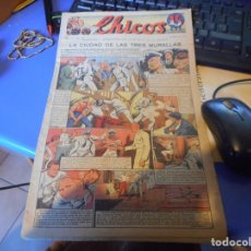 Tebeos: TEBEO COMPLETO CHICOS LA CIUDAD DE LAS TRES MURALLAS FREIXAS 1940 NUMERO 98. Lote 145358634