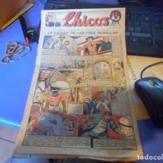 Tebeos: TEBEO COMPLETO CHICOS LA CIUDAD DE LAS TRES MURALLAS FREIXAS 1940 NUMERO 97. Lote 145358894