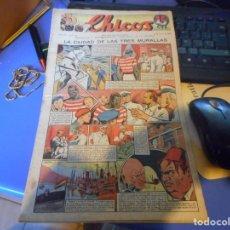 Tebeos: TEBEO COMPLETO CHICOS LA CIUDAD DE LAS TRES MURALLAS FREIXAS 1940 NUMERO 96. Lote 145359094