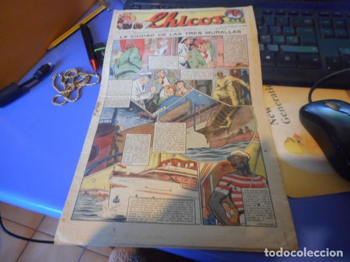 TEBEO COMPLETO CHICOS LA CIUDAD DE LAS TRES MURALLAS FREIXAS 1939 NUMERO 95 (Tebeos y Comics - Consuelo Gil)