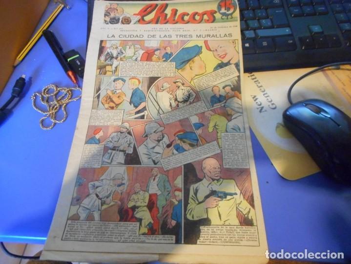 TEBEO COMPLETO CHICOS LA CIUDAD DE LAS TRES MURALLAS FREIXAS 1939 NUMERO 94 (Tebeos y Comics - Consuelo Gil)