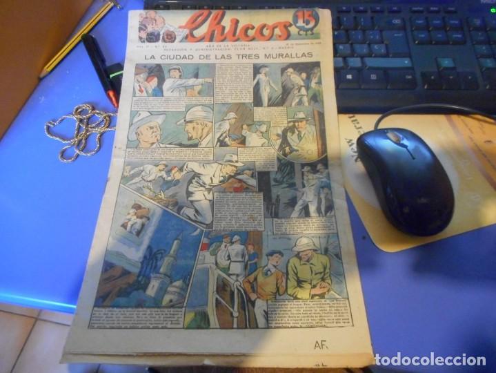 TEBEO COMPLETO CHICOS LA CIUDAD DE LAS TRES MURALLAS FREIXAS 1939 NUMERO 93 (Tebeos y Comics - Consuelo Gil)