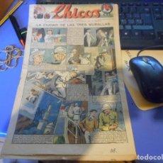 Tebeos: TEBEO COMPLETO CHICOS LA CIUDAD DE LAS TRES MURALLAS FREIXAS 1939 NUMERO 93. Lote 145359850