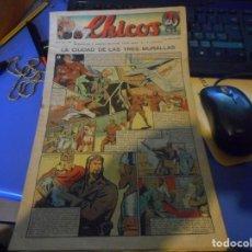 Tebeos: TEBEO COMPLETO CHICOS LA CIUDAD DE LAS TRES MURALLAS FREIXAS 1940 NUMERO 110. Lote 145360078