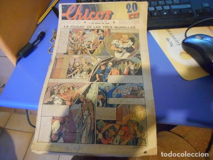 TEBEO COMPLETO CHICOS LA CIUDAD DE LAS TRES MURALLAS FREIXAS 1940 NUMERO 113 (Tebeos y Comics - Consuelo Gil)