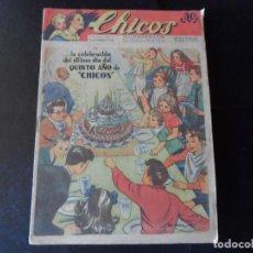 Tebeos: CHICOS ORIGINAL Nº 242 EDITORIAL CONSUELO GIL AÑO 1943 5º ANIVERSARIO. Lote 147252682