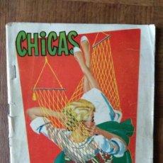 Tebeos: CHICAS Nº 255 DE 1956, LA REVISTA DE LOS 17 AÑOS- NOVELAS, ILUSTRACION, MODA, HISTORIETAS ACTUALIDAD. Lote 149844086