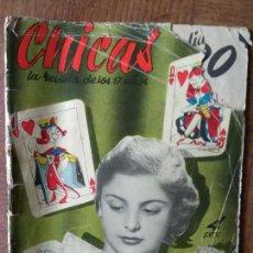 Tebeos: CHICAS Nº 77 DE 1951, LA REVISTA DE LOS 17 AÑOS- NOVELAS, ILUSTRACION, MODA, HISTORIETAS ACTUALIDAD. Lote 149844630