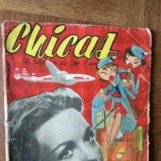 Tebeos: CHICAS Nº 154 DE 1953, LA REVISTA DE LOS 17 AÑOS- NOVELAS, ILUSTRACION, MODA, TEBEOS, ACTUALIDAD.... Lote 149845702
